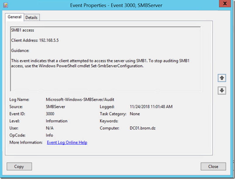 Step by Step: Safely disabling SMB v1 from your production