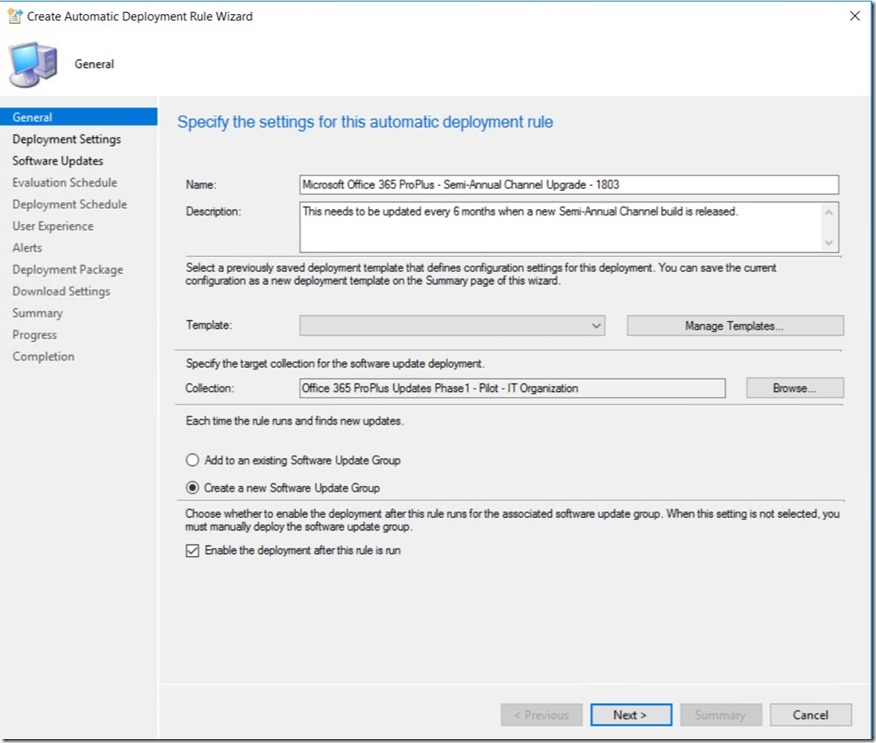 Office 365 ProPlus – End to End Servicing in Configuration