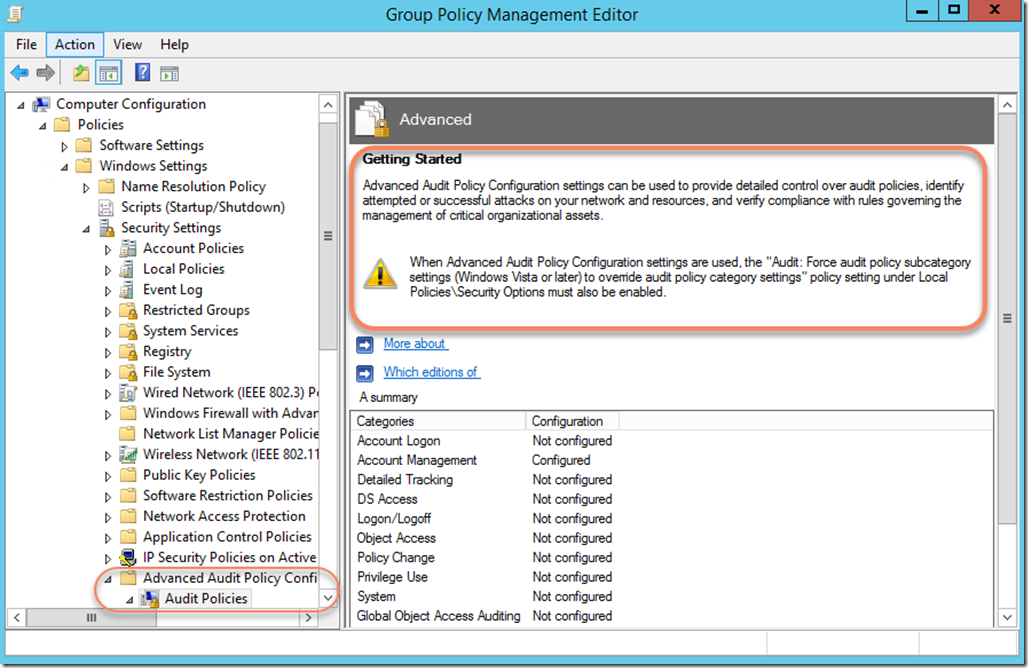 Getting Started with Advanced Audit Policy Configuration