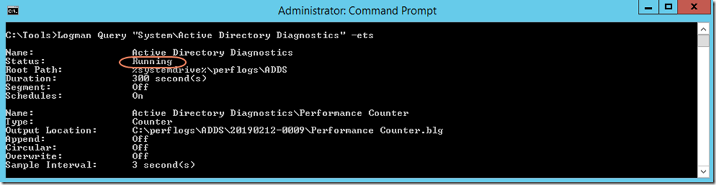 Running Data Collector Set (command-line)