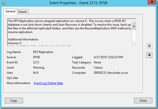 Event ID 2213