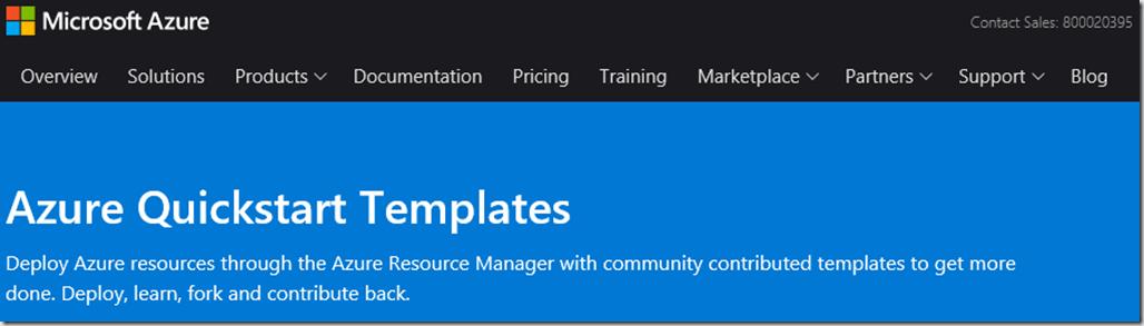 Azure Quickstart Templates