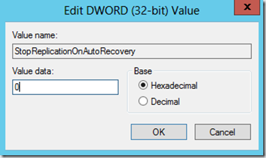 Enable AutoRecovery