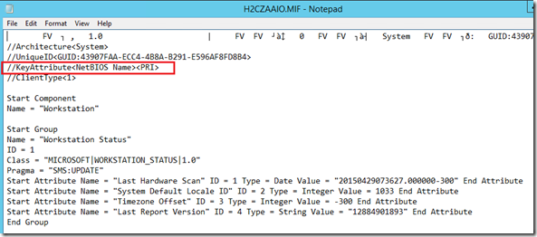 System Center Configuration Manager – Powershell Query  MIF